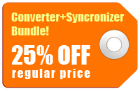 Converter+Syncronizer Bundle! Take 25% off regular price